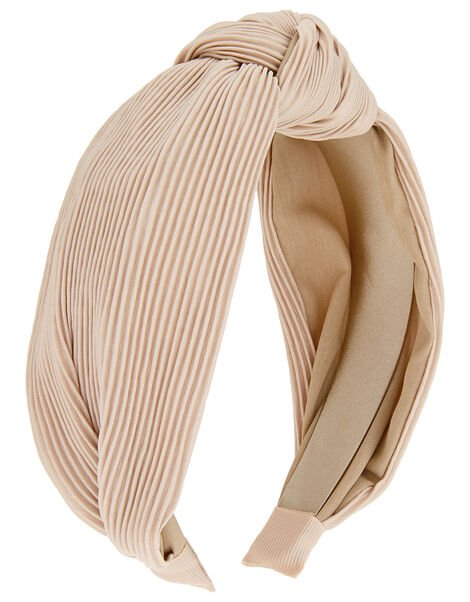 Wide Pleated Knot Alice Hair Band, , large