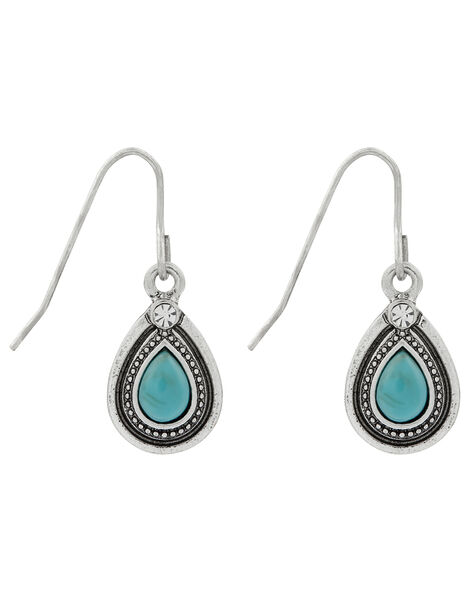 Turquoise Teardrop Drop Earrings, , large