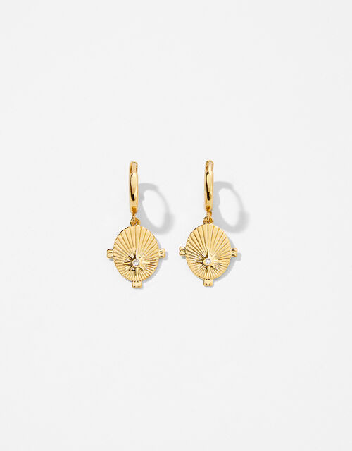 Gold-Plated Star Ray Earrings, , large