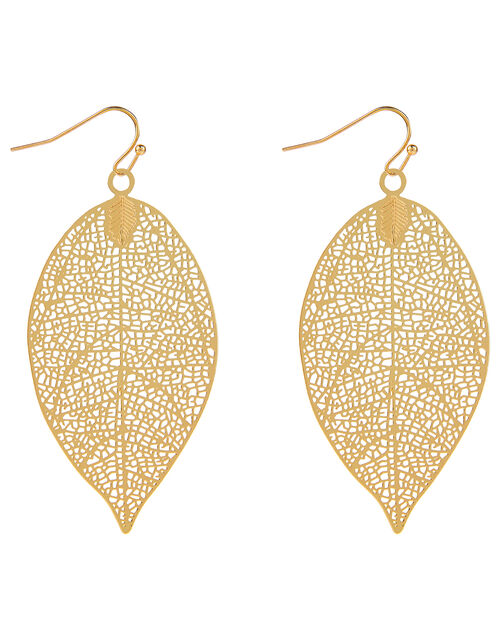 Leaf Pendant Necklace & Earrings Set , , large