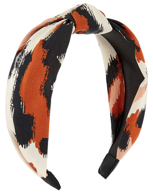 Laura Leopard Knot Headband, , large