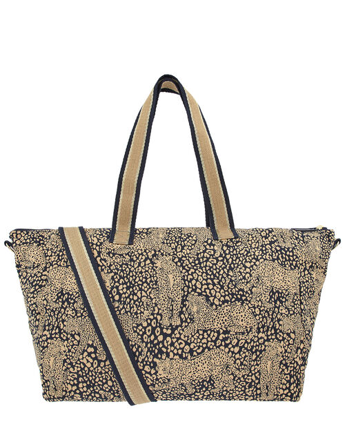 Large Leopard Weekend Bag, , large