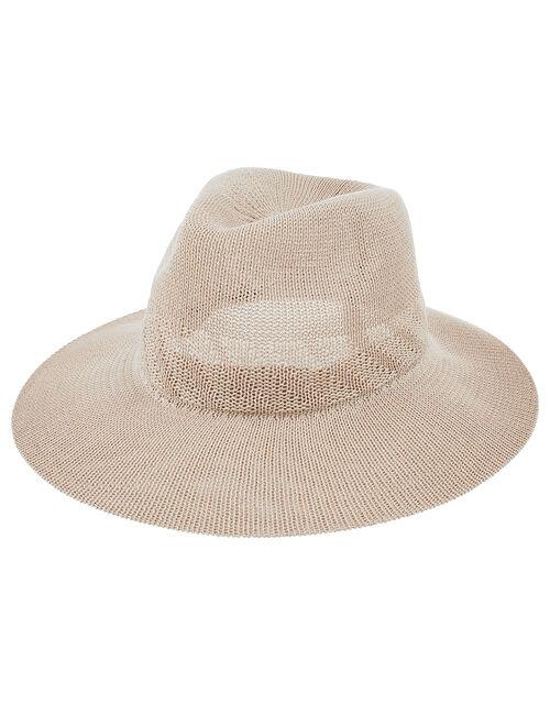 Chic Packable Fedora Hat, Mink (MINK), large