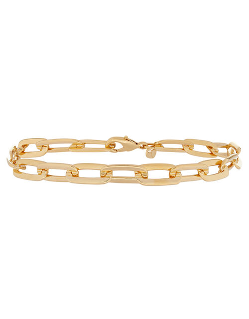 Gold-Plated Large Link Chain Bracelet, , large
