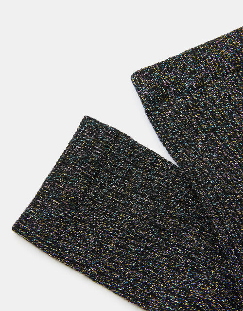 Sparkle Ribbed Ankle Socks, , large