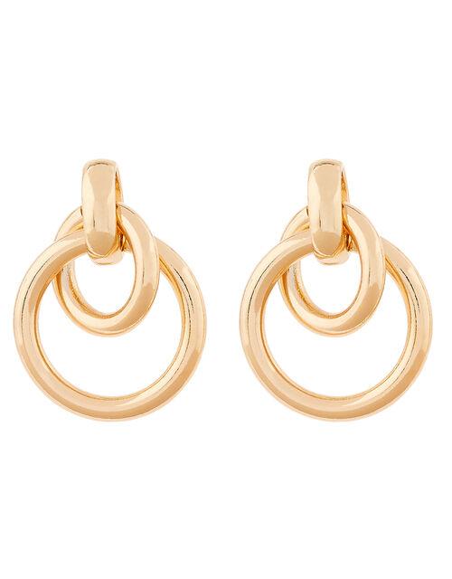 Hooped Doorknocker Earrings, , large