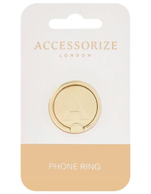 Metallic Initial Phone Ring - A, , large