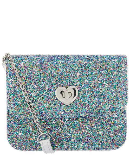 Coloured Glitter Cross-Body Bag, , large