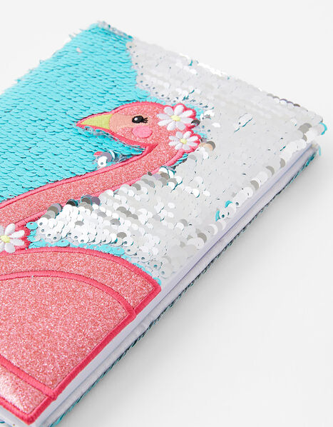 Sequin Flamingo Notebook, , large