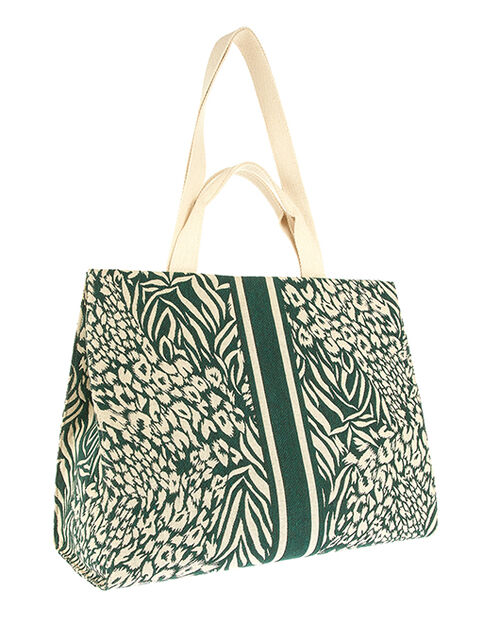 Hailey Pattern Structured Tote Bag, , large