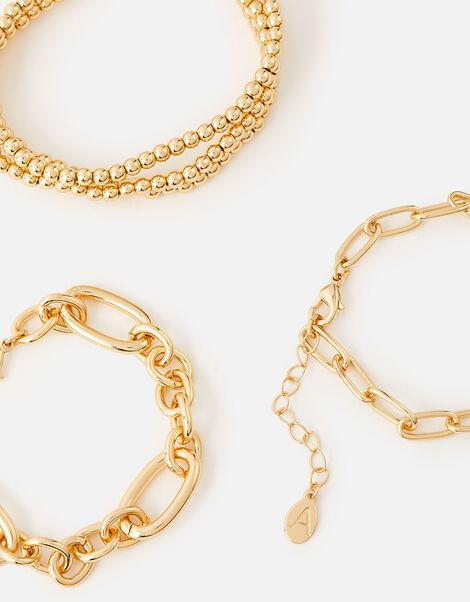 Reconnected Chain Bracelet Set  Gold, Gold (GOLD), large
