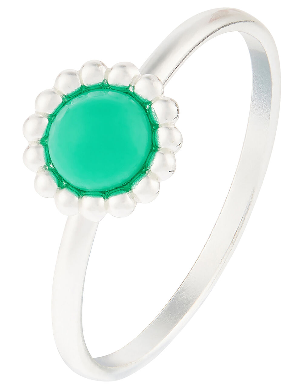 Sterling Silver Ring with Reconstituted Turquoise, Blue (TURQUOISE), large