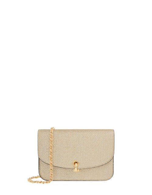 Edie Shimmer Cross-Body Bag, , large