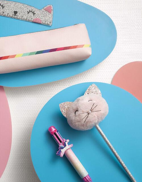 Fluffy Pom-Pom Cat Pencil, , large