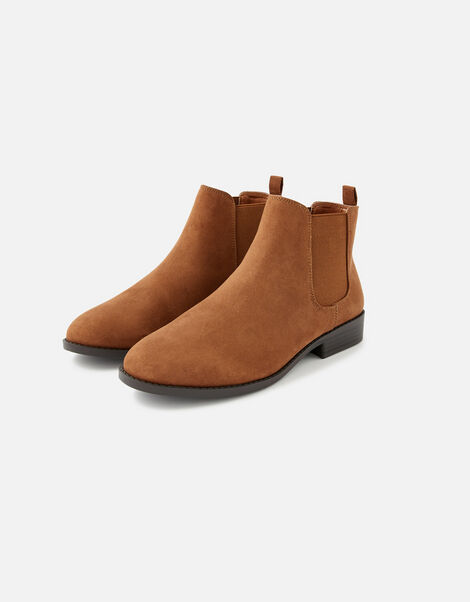 Suedette Chelsea Boots Brown, Brown (BROWN), large