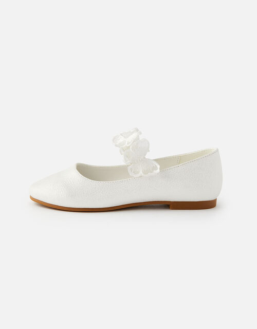 Butterfly Ballerina Flats, Natural (IVORY), large