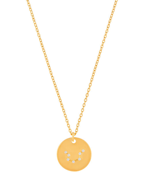 Gold-Plated Constellation Necklace - Aquarius, , large