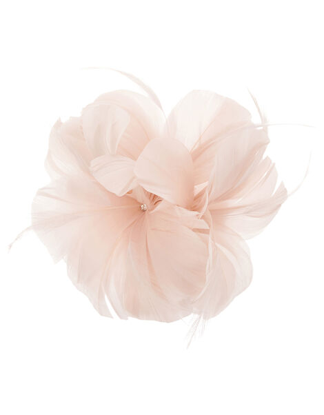 Abigail Net Bow Hair Clip Pink, Pink (PALE PINK), large