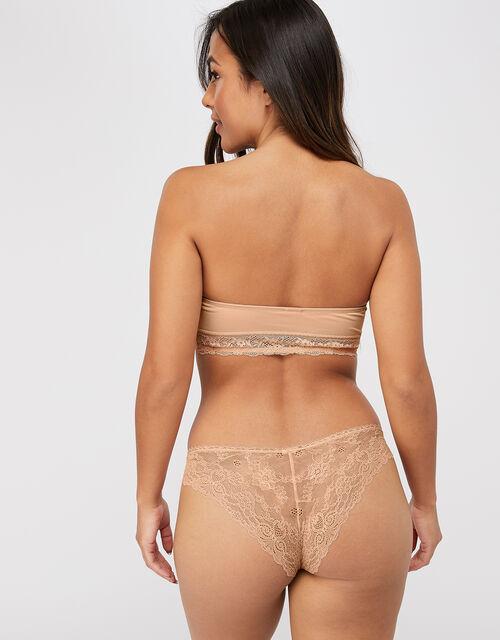 Lace Bandeau Bra, Nude (NUDE), large