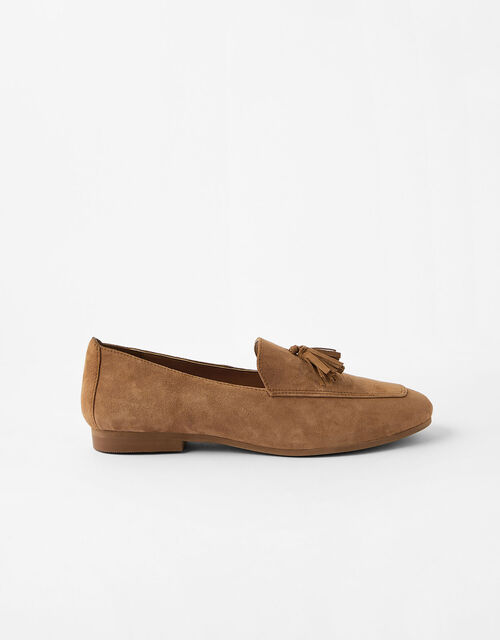 Suede Loafers, Tan (TAN), large