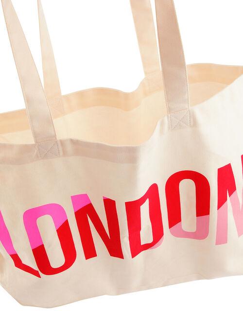 London Cotton Shopper Bag, , large