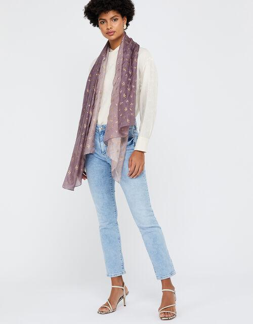 Luxury Silk Stole, Purple (MAUVE), large