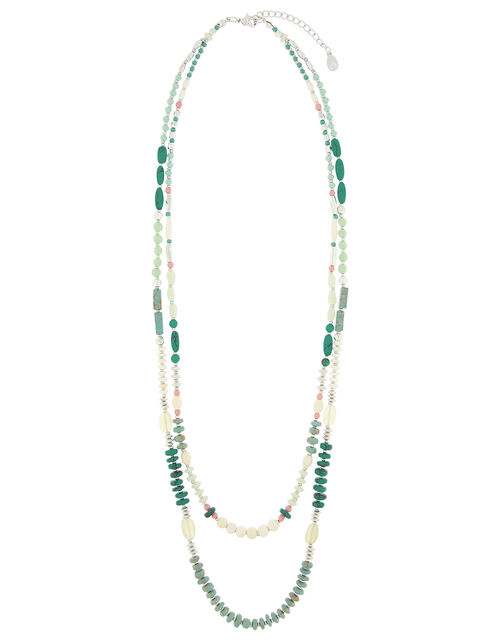 Double-Row Beaded Rope Necklace, , large