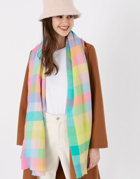 Chrishelle Check Blanket Scarf, , large