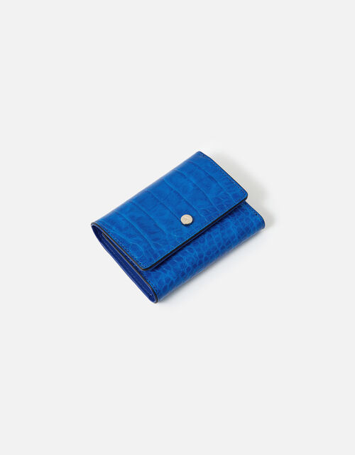 Stella Croc Purse , Blue (BLUE), large
