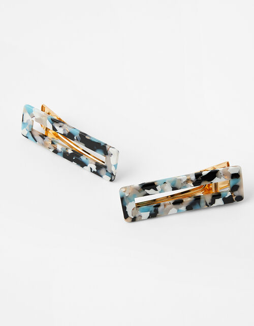Rectangle Resin Hair Clips, , large