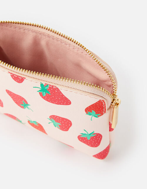 Strawberry Print Coin Purse , , large