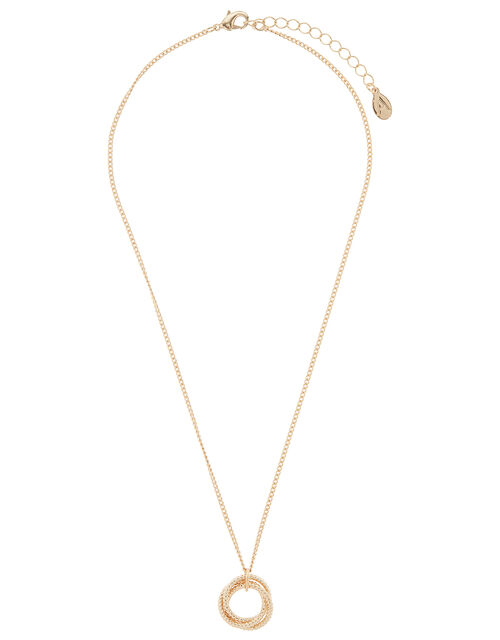 Eternity Circle Pendant Necklace, , large