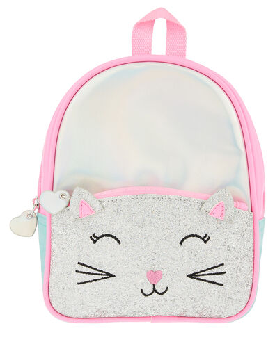 Glitter Cat Mini Backpack, , large