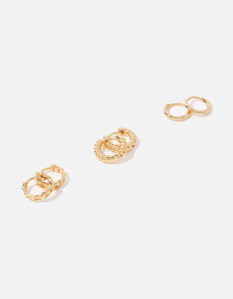 Gold-Plated Mixed Size Hoop Pack, , large
