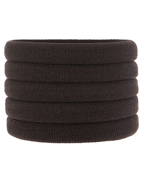 Thick Towelling Hair Band Multipack Brown, Brown (BROWN), large
