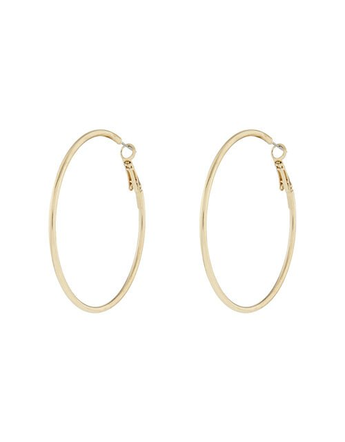 Medium Simple Hoop Earrings, Gold (GOLD), large
