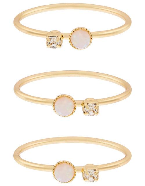 Gem Stacking Ring Set, Gold (GOLD), large