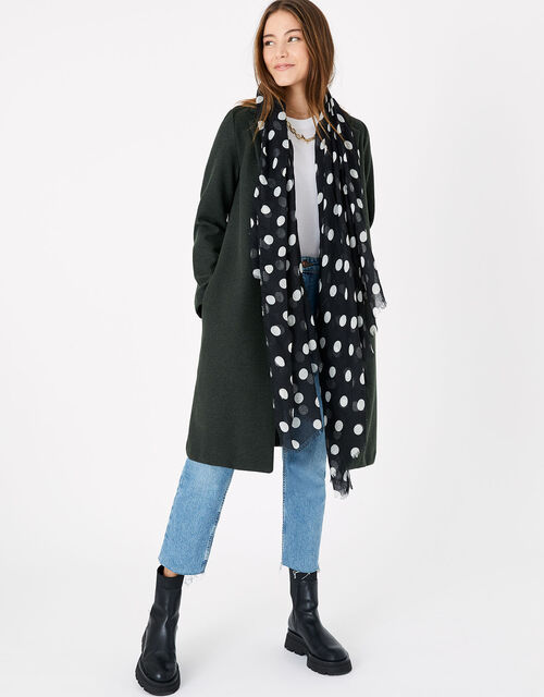 Polka-Dot Scarf in Recycled Polyester, , large