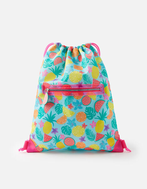 Fruit Print Drawstring Bag, , large