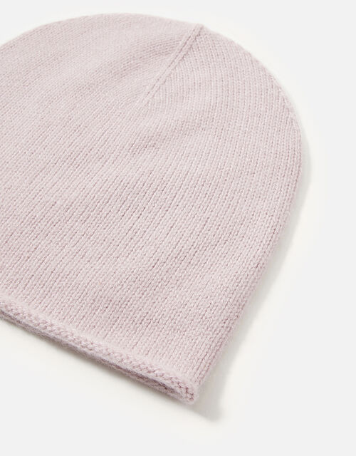 Knit Beanie in Cashmere, Pink (PINK), large