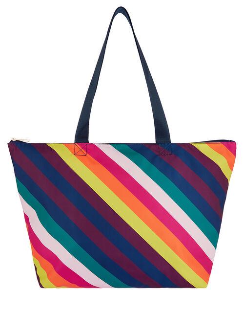 Rainbow Print Shopper Bag, , large