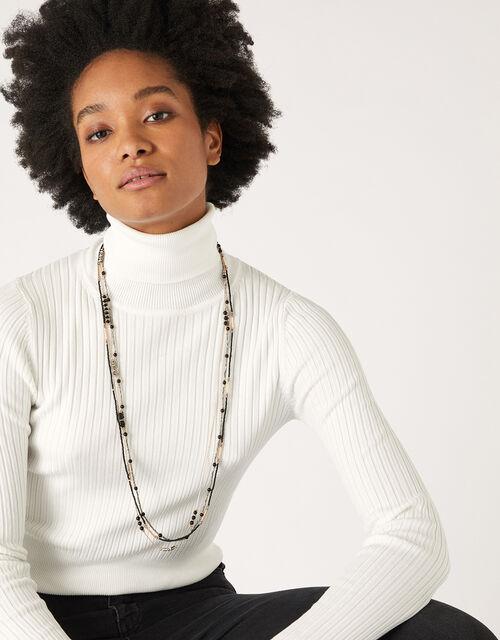 Jennie Beaded Rope Necklace, , large