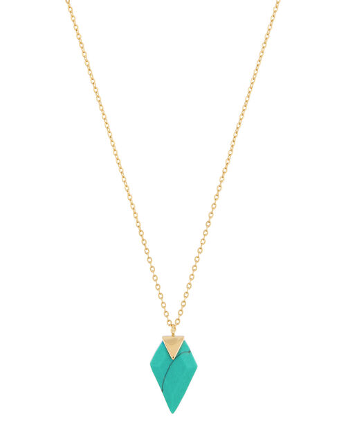 Healing Stones Gold-Plated Turquoise Necklace, , large