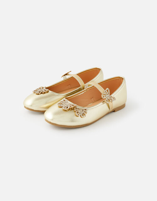 Butterfly Ballerina Flats, Gold (GOLD), large
