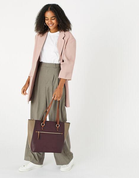 Molly Colourblock Tote Bag, , large