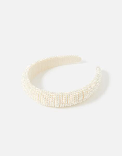 BRIDAL Round Pearl Headband , , large