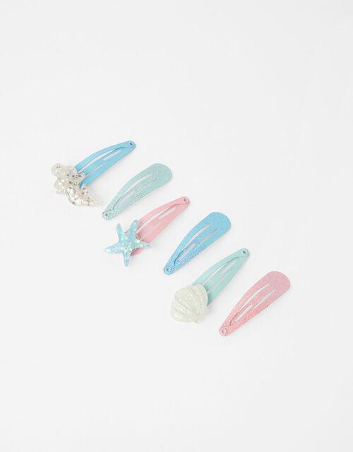 Mermaid Sparkle Hair Clip Set, , large