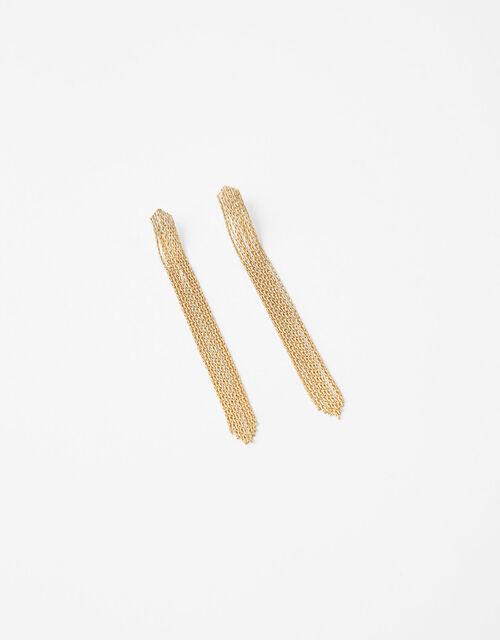 Sleek Chain Long Drop Earrings, , large
