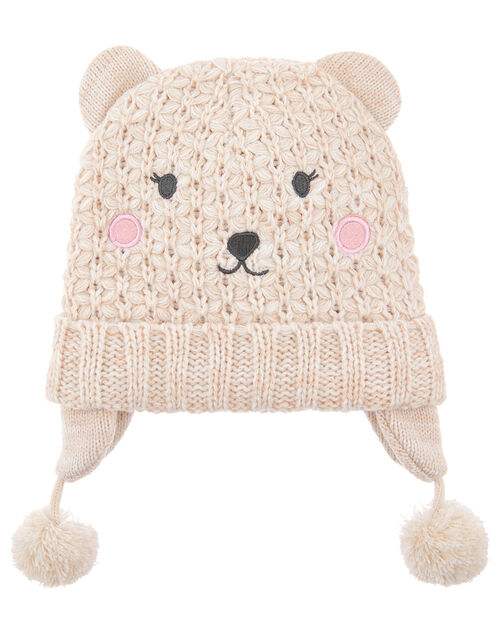 Polar Bead Knit Chullo Hat, Natural (IVORY), large