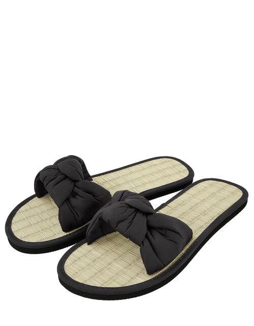 Black Knotted Slider, Black (BLACK), large